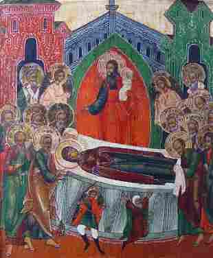 Dormition Russian Icon, 18th C