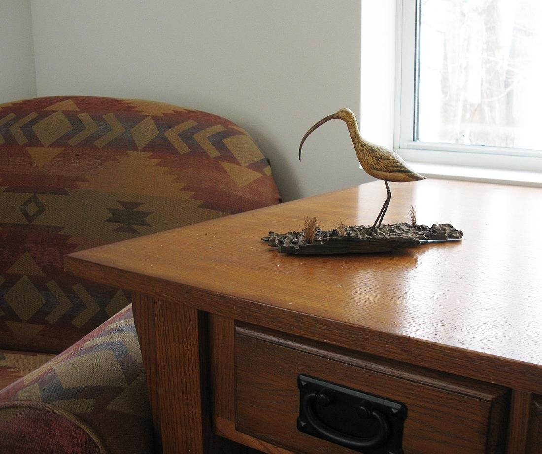Long-billed Curlew Carving - 5