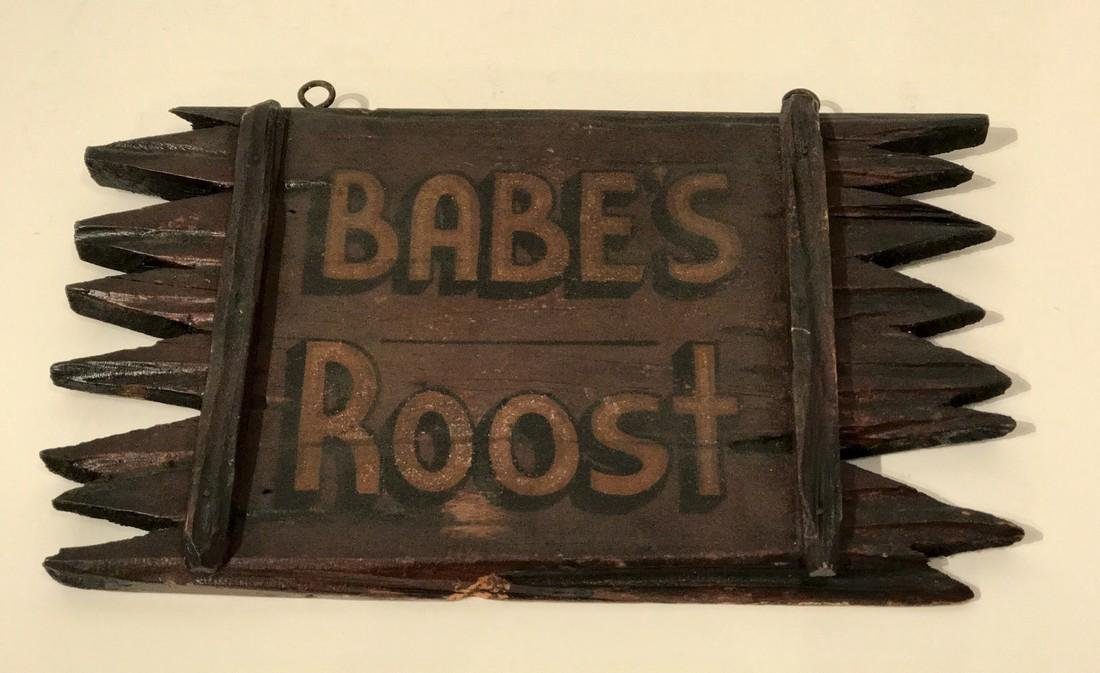 Adirondack Babe's Roost Sign