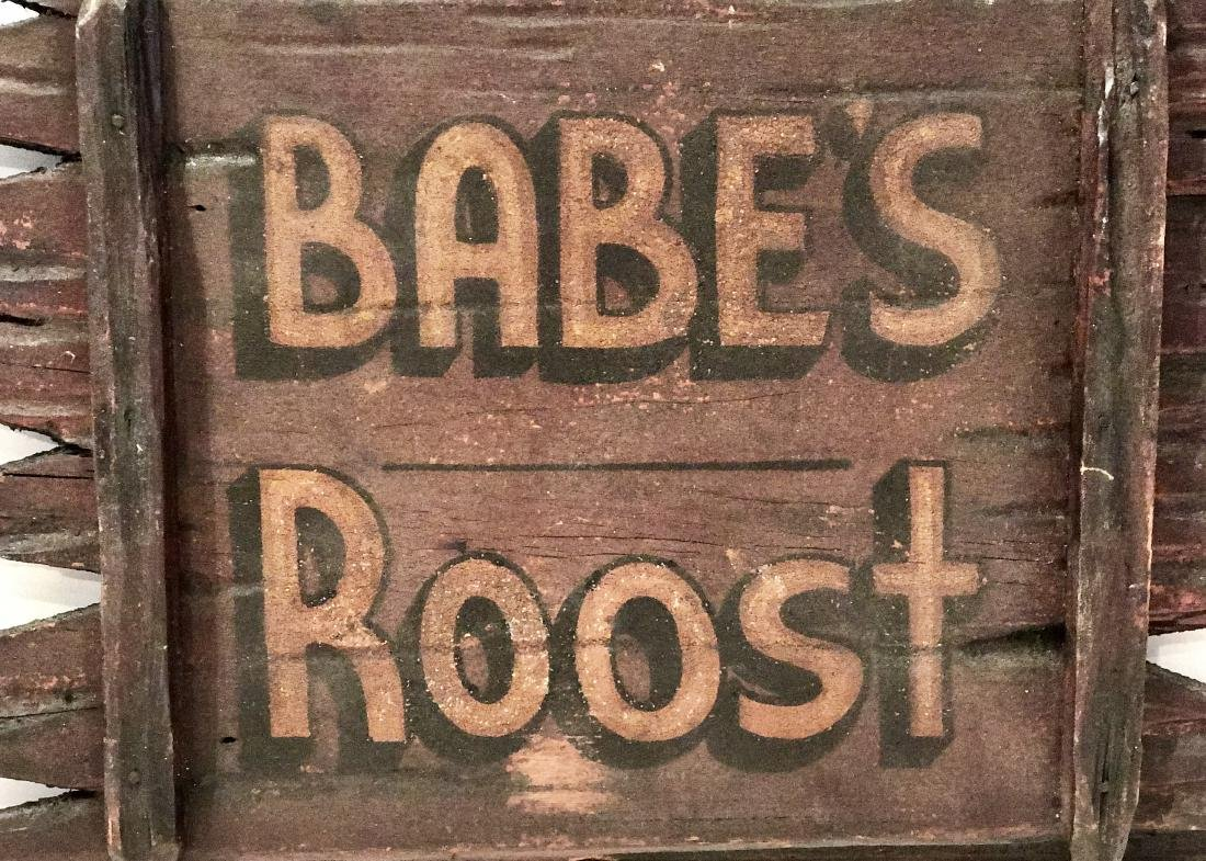 Adirondack Babe's Roost Sign - 4