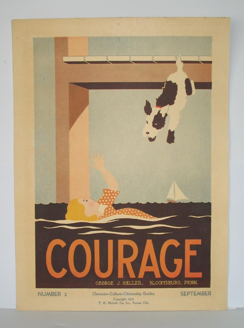 """1934 """"courage"""" Poster"""