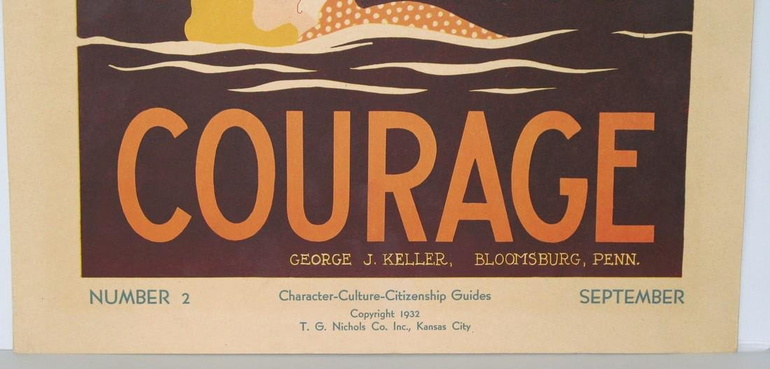 "1934 ""courage"" Poster - 2"