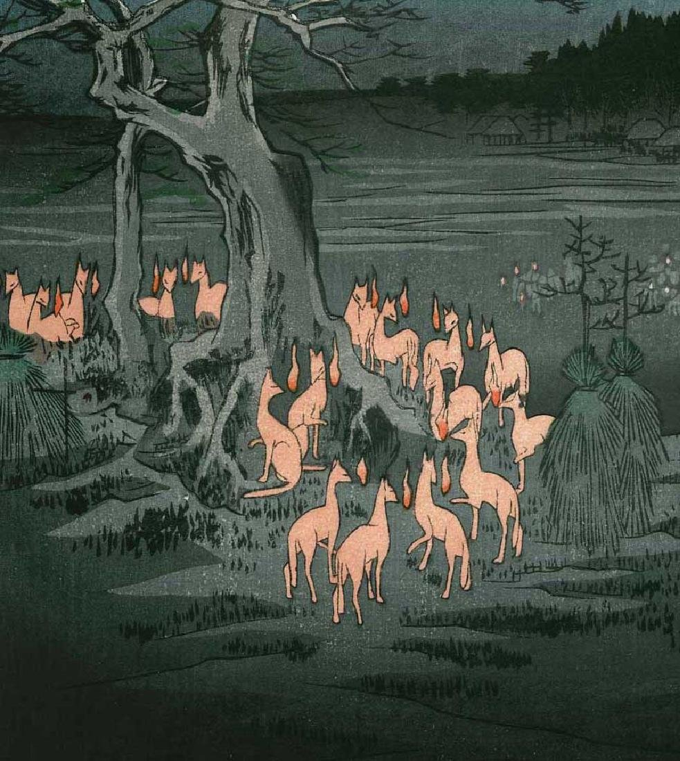 Ando Hiroshige: New Year's Eve Foxfire (Inari Fox Cult) - 2