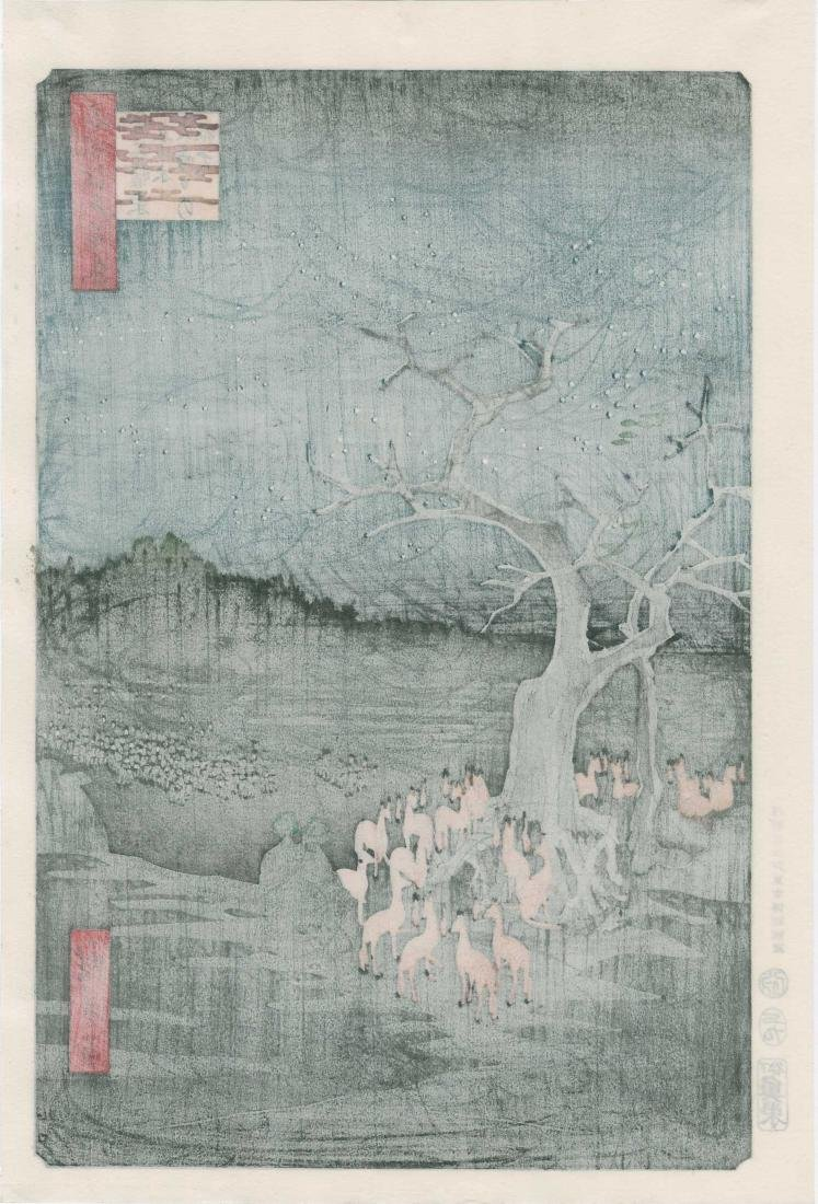 Ando Hiroshige: New Year's Eve Foxfire (Inari Fox Cult) - 3