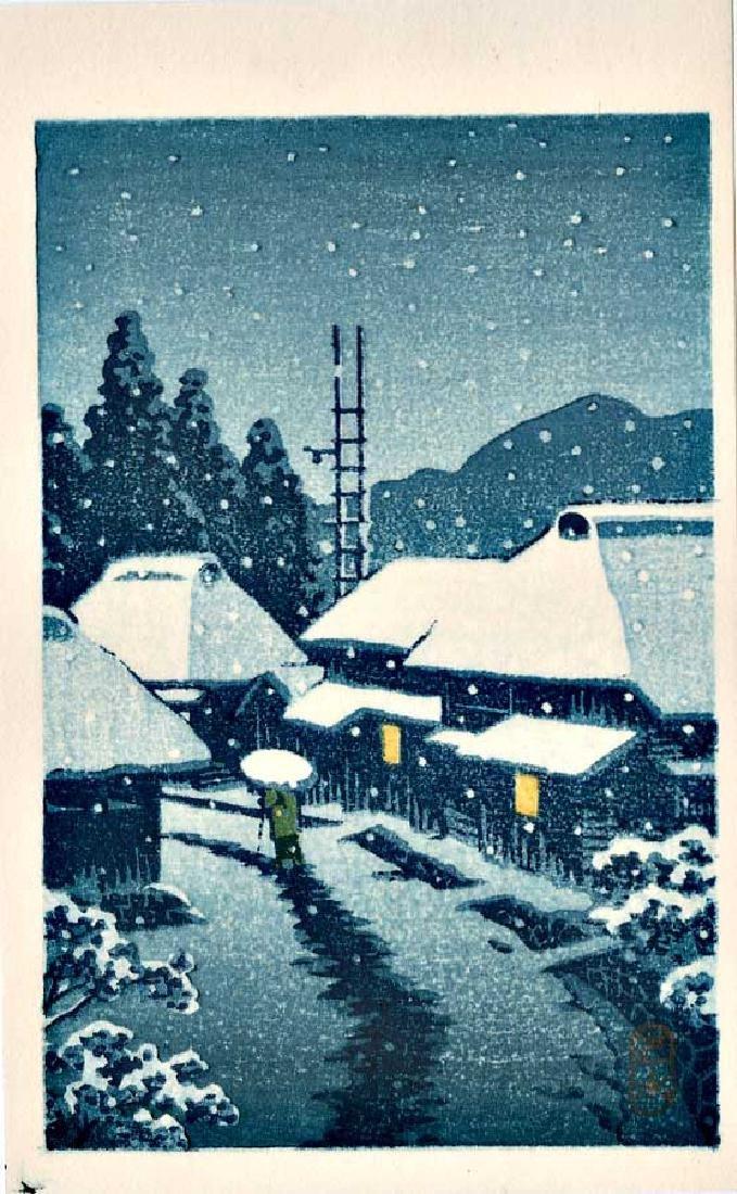 Kawase Hasui: Village in Snow