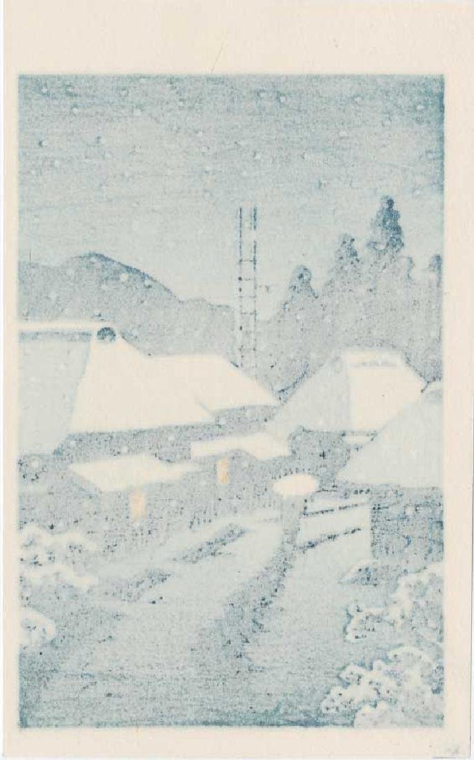 Kawase Hasui: Village in Snow - 2