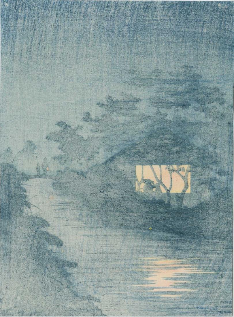 Kiyochika Kobayashi: Fireflies by a Country Stream - 2