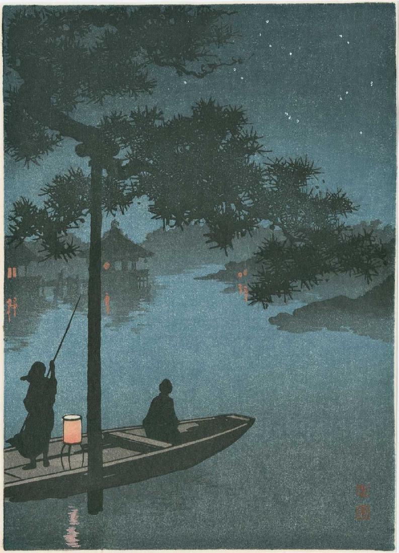Koho Shoda: Taking the Evening Cool, Lake Biwa