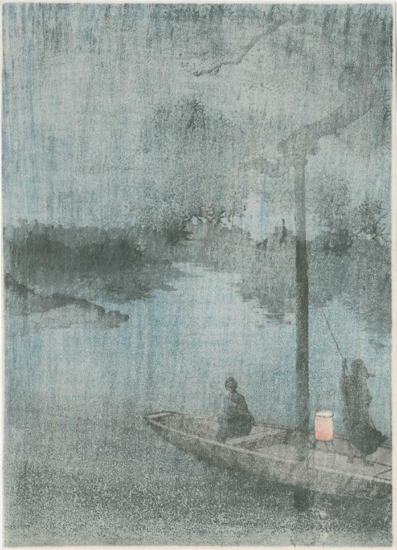 Koho Shoda: Taking the Evening Cool, Lake Biwa - 2