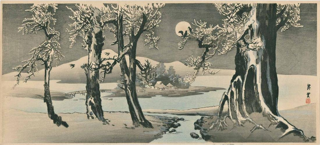 Shoun Yamamoto: Winter Landscape with Crows