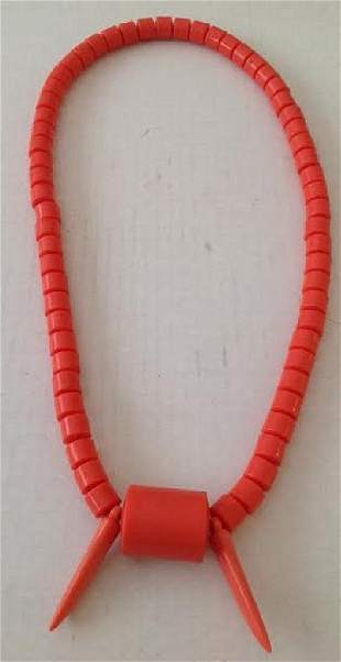 """Nigerian Traditional Royal Chief """"Ozo"""" Coral Necklace"""