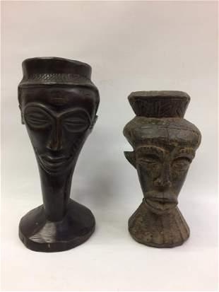 2 Pieces Kuba Wood Cup