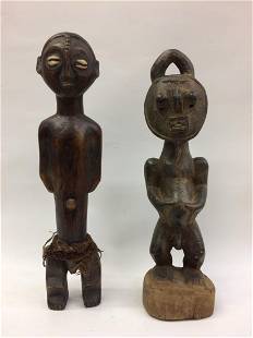 2 Pieces African Art Statue