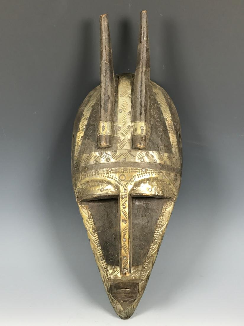 Marka Wood And Metal Mask from Mali