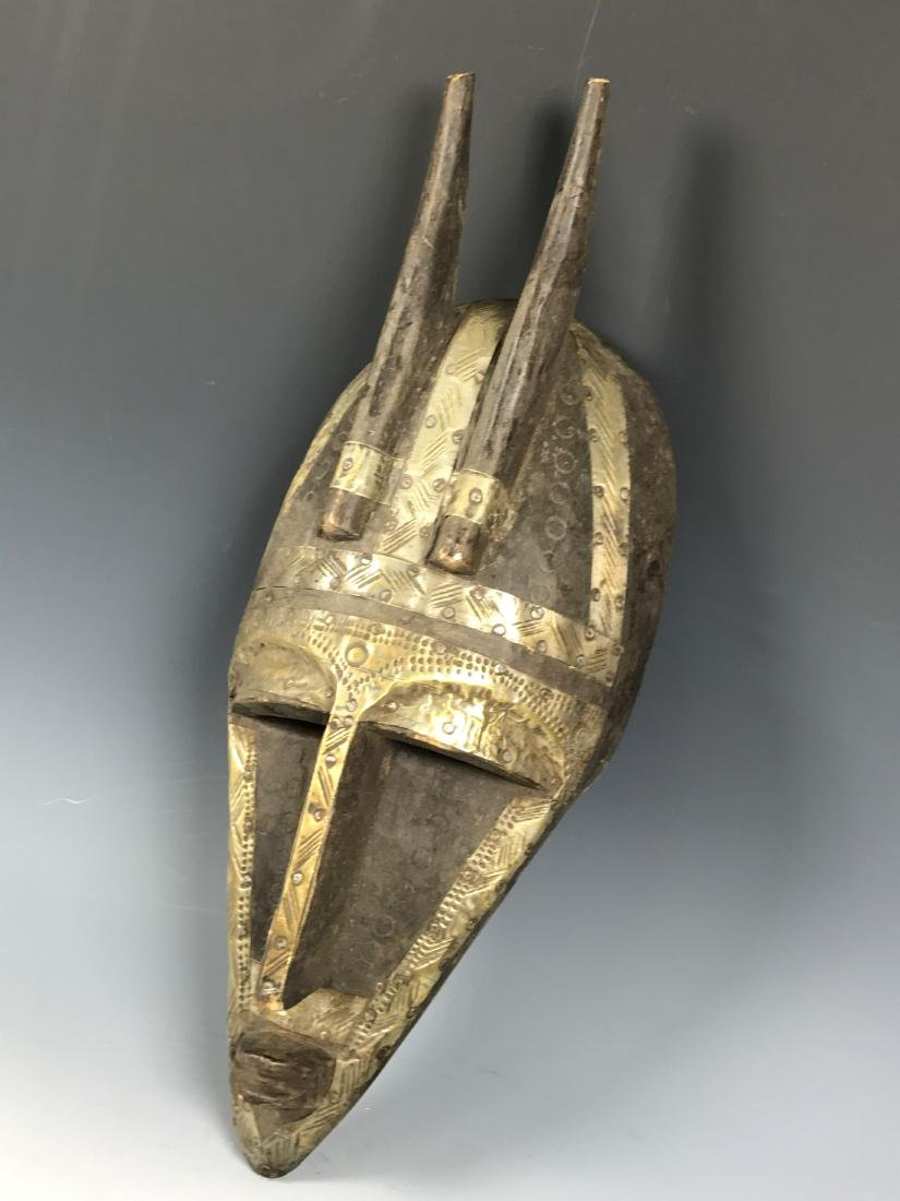 Marka Wood And Metal Mask from Mali - 3