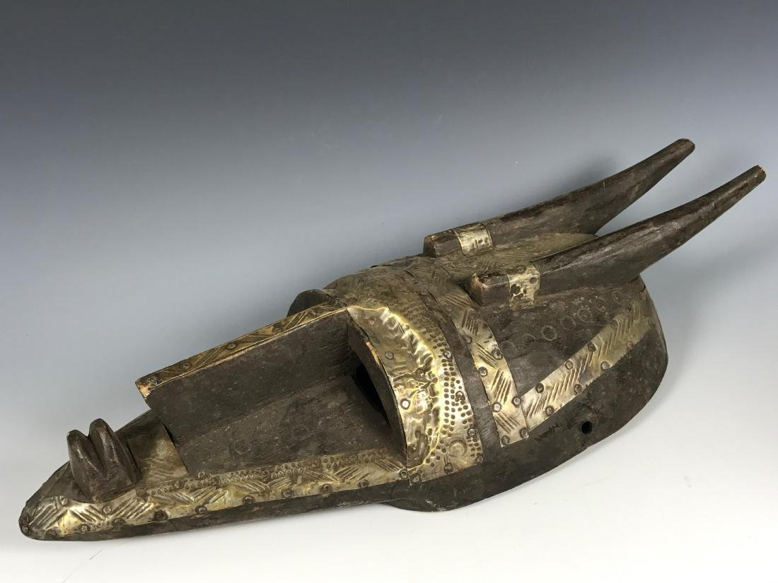 Marka Wood And Metal Mask from Mali - 4