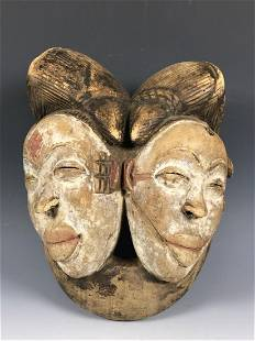 Double Face Punu Mask from Gabon