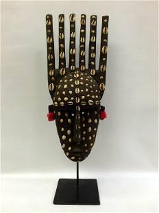Bambara Cowry Shell Mask