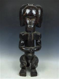 Three Heads Fang Statue from Gabon