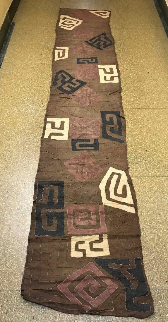Long Kuba Cloth Textile from Democratic Republic of Con
