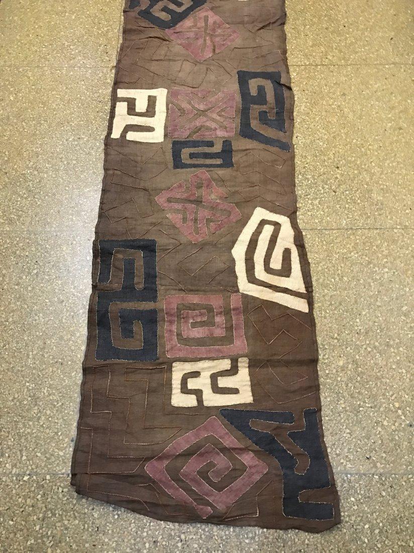 Long Kuba Cloth Textile from Democratic Republic of Con - 2