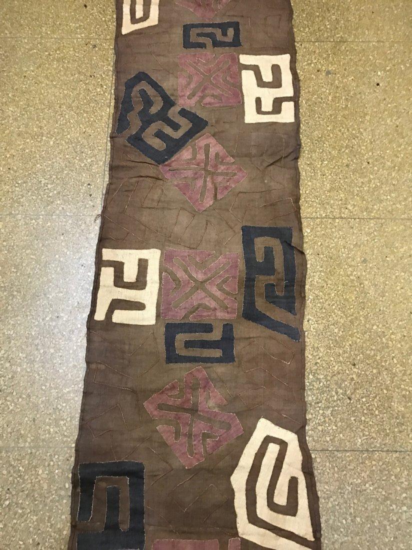 Long Kuba Cloth Textile from Democratic Republic of Con - 3