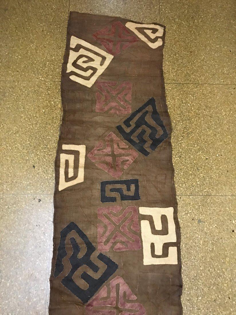 Long Kuba Cloth Textile from Democratic Republic of Con - 4