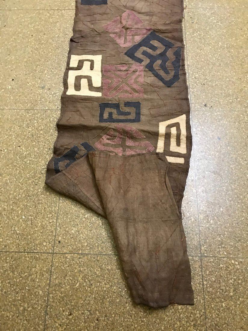 Long Kuba Cloth Textile from Democratic Republic of Con - 6