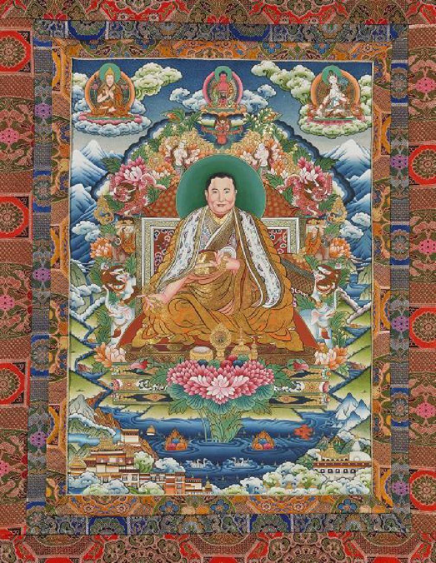 Tibetan Painted Thangka: Panchen Lama