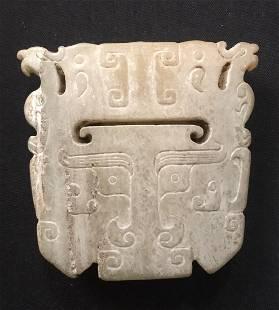 Chinese Archaic Jade Pendant Han Warring States