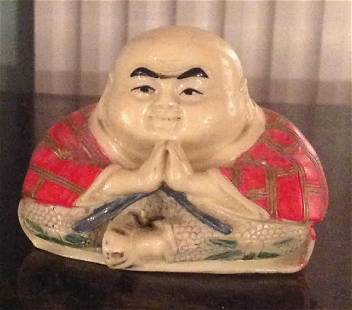 Antique Chinese Hand Carved Bone Chinese Figurine