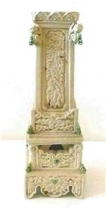 Annamese Rectangular Candle Holder, Carved Lion