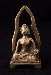 Indian Kashmiri Style Buddha Statue
