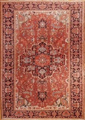 Antique Persian Heriz Rug 7.1x11.6
