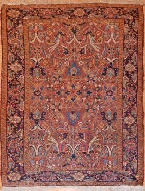 Antique Persian Heriz Rug 5.8x8.6