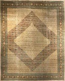 Antique Persian Hadji Jalil Tabriz Rug 9.0 x 11.9
