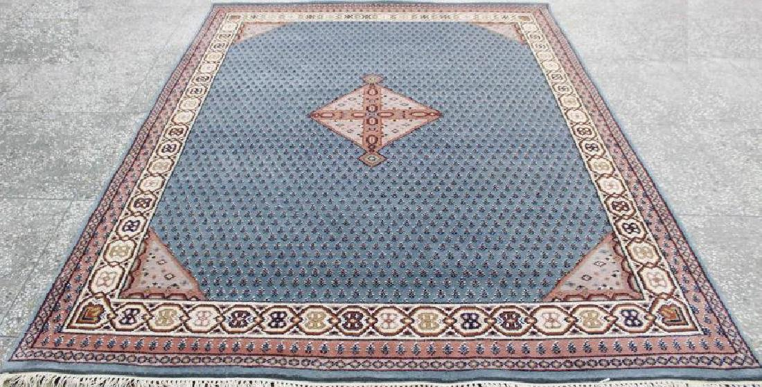 Hand Knotted New Indo Sarouk Rug 6.6x8.2