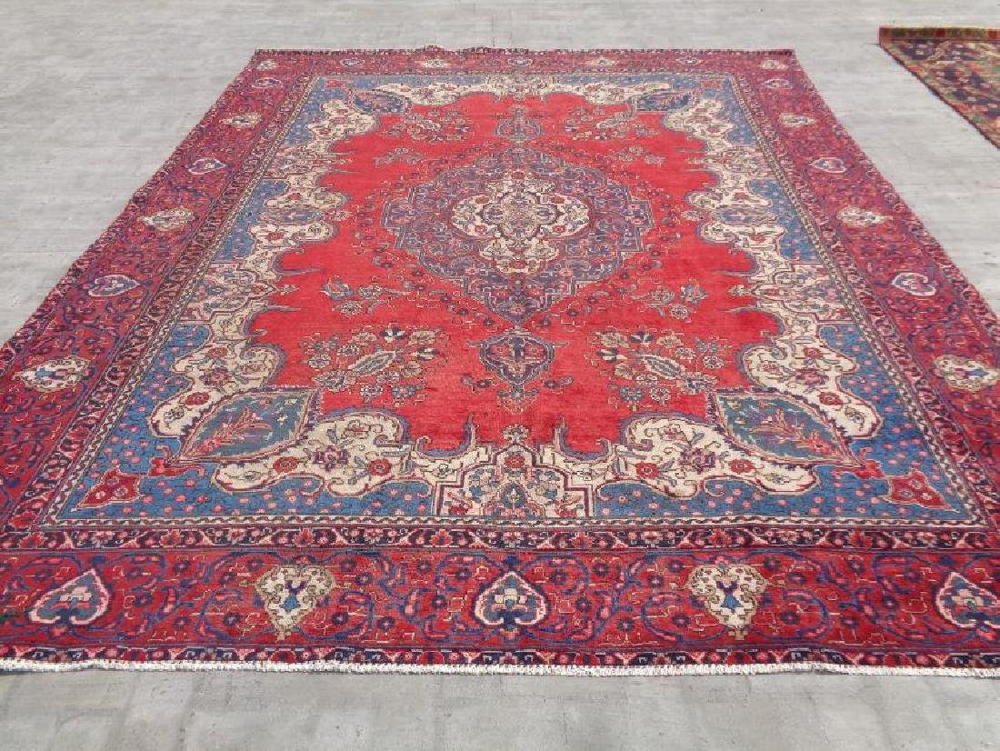 Hand Knotted Persian Tabriz Rug 11.9x9.4