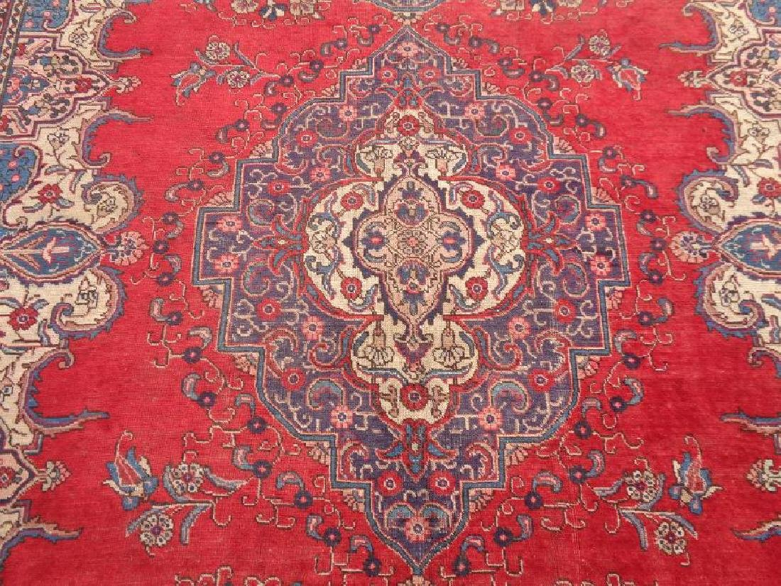 Hand Knotted Persian Tabriz Rug 11.9x9.4 - 3