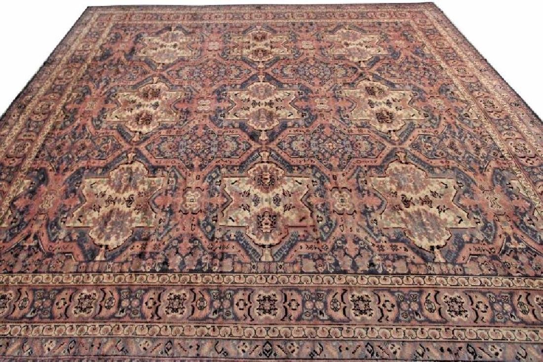 Antique Art Deco Rug Oushak 13'x15' C.1900