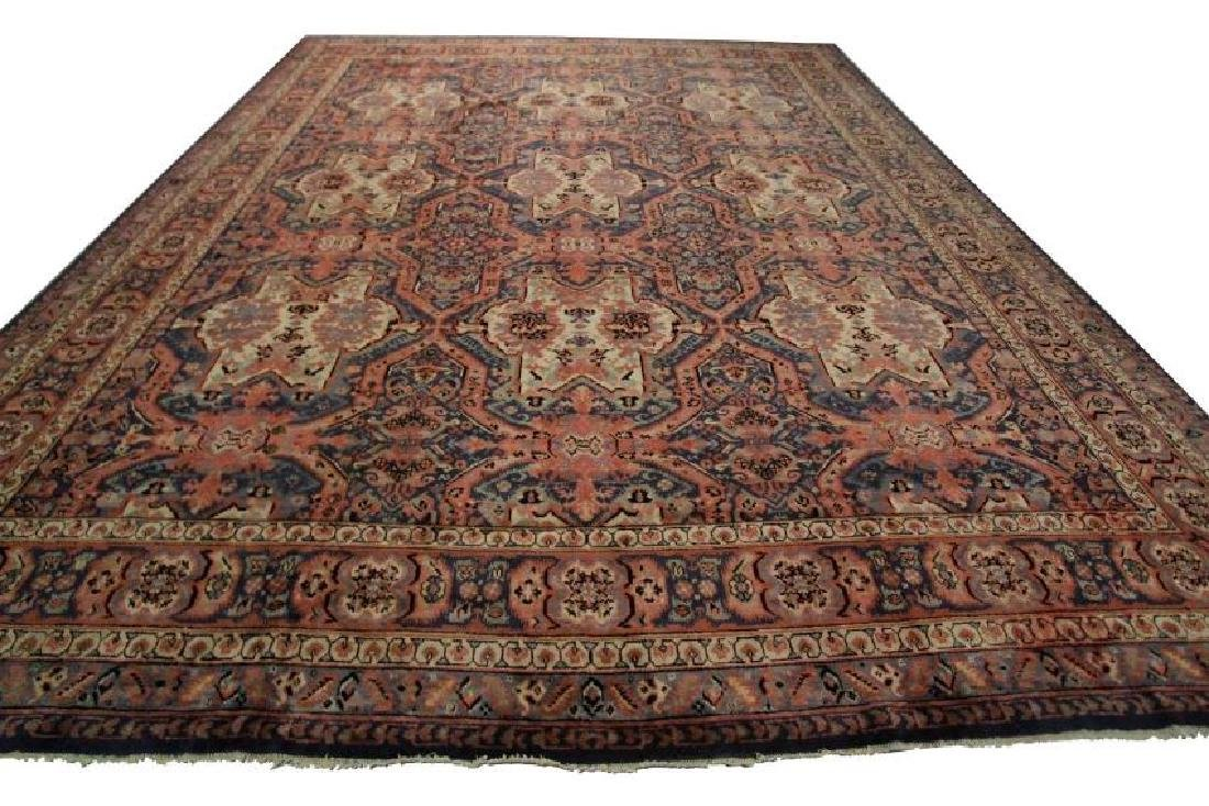 Antique Art Deco Rug Oushak 13'x15' C.1900 - 2