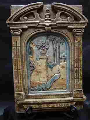 Claycraft Peacock Decorative Relief Tile