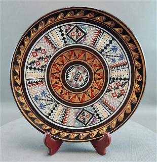 Terracotta Decorated Plate