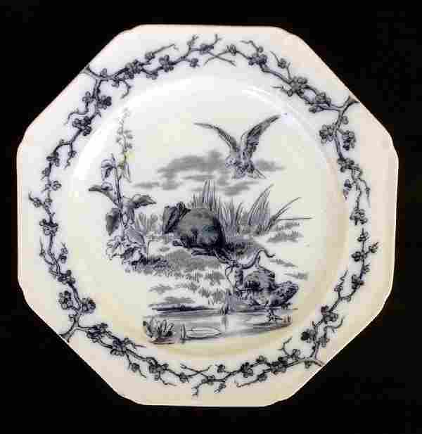 Aesthetic Fables Plate, Staffordshire, The Rat and Frog