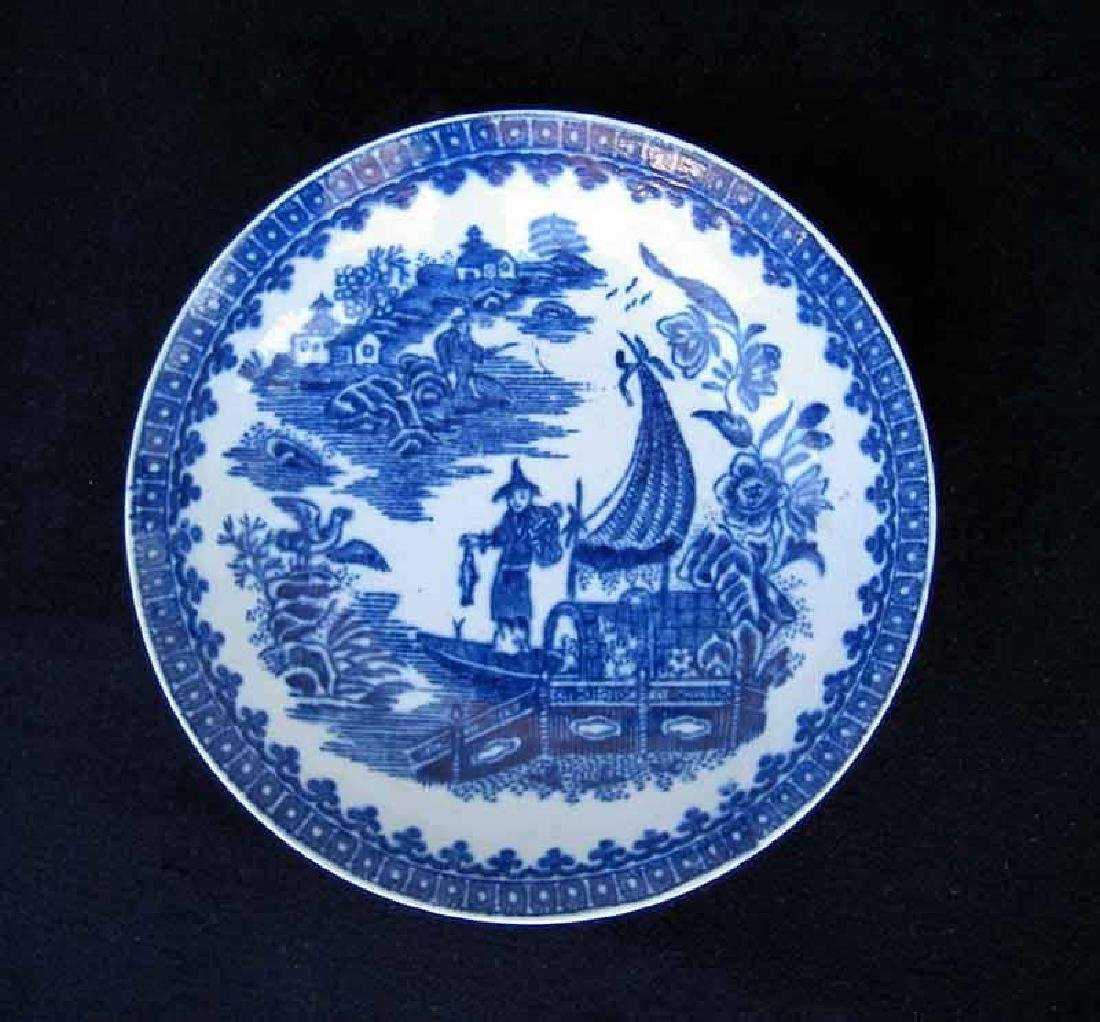 18th C Worcester Transfer Fisherman Pattern Bowl