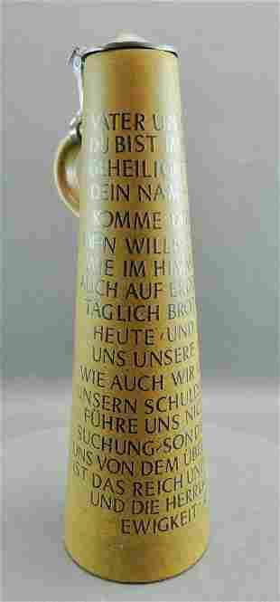 Tall Werner Corzelius German Stein, Lord's Prayer