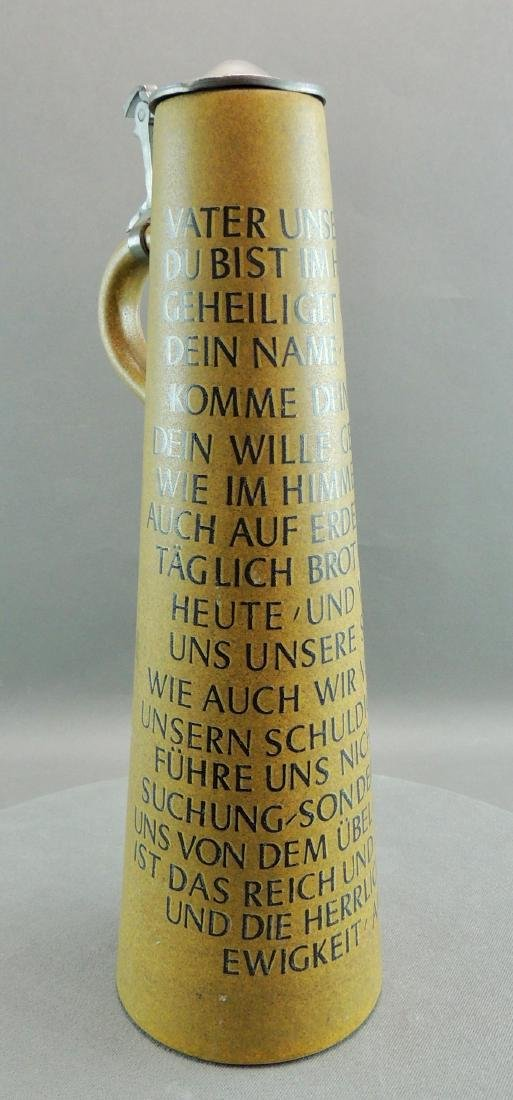 Tall Werner Corzelius German Stein, Lord's Prayer