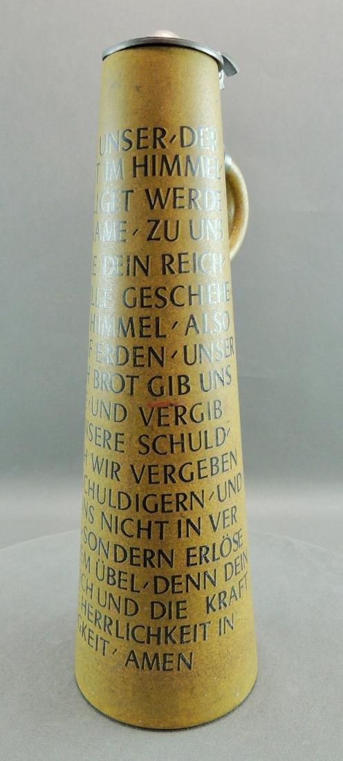 Tall Werner Corzelius German Stein, Lord's Prayer - 2