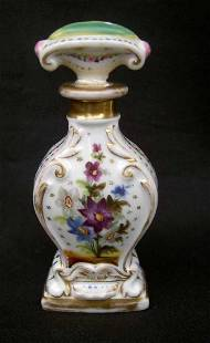 19th C French Porcelain Perfume/Scent Bottle