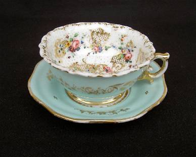 French Cabinet Cup By Jacob Petit, Mid 19th Century